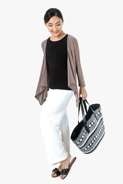 Layering Cardigan, Basic Shell and Palazzo Pants