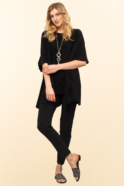 Kimino Cardigan, Travel T-Shirt, Cropped Slim Pants